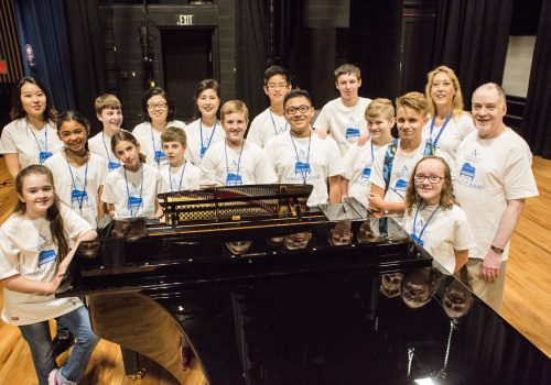 Group of piano students
